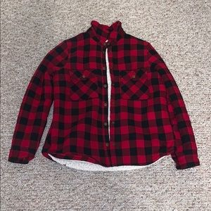 Forever 21 plaid jacket with fleece lining
